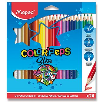 Trojhranné pastelky - Maped - 24 barev