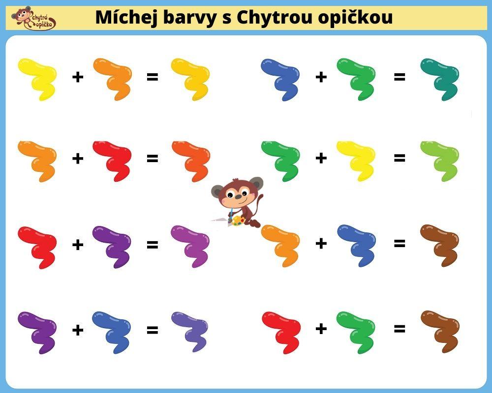 Míchání barev tabulka