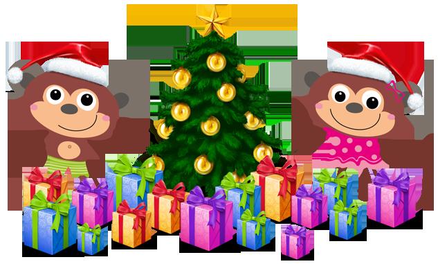 Vánoce na chytré opičce