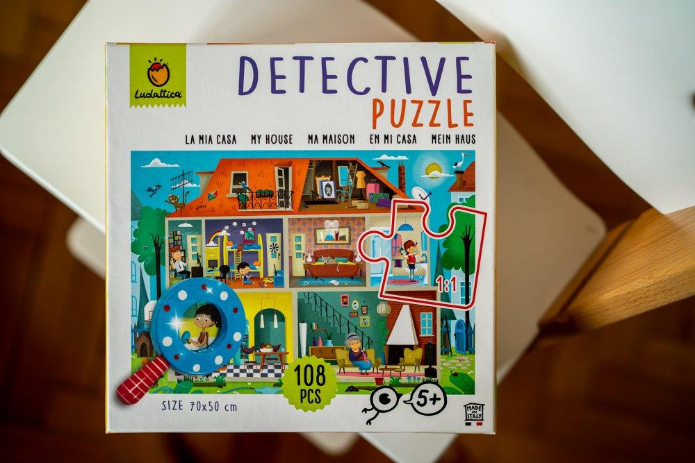 detektivní puzzle domecek ludattica